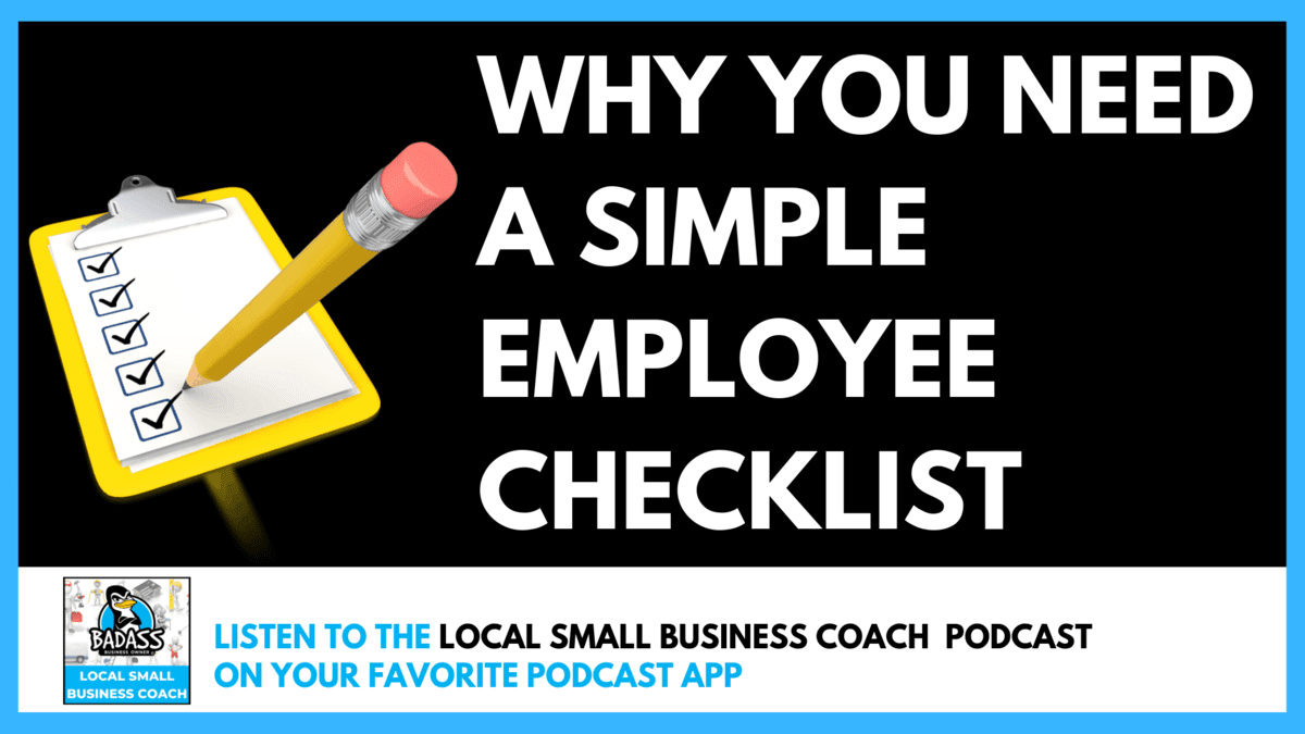 Why You Need a Simple Employee Checklist