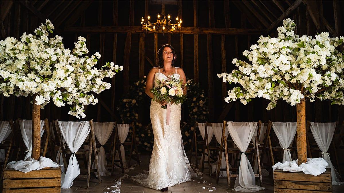Leavenheath Barn Bride Portrait