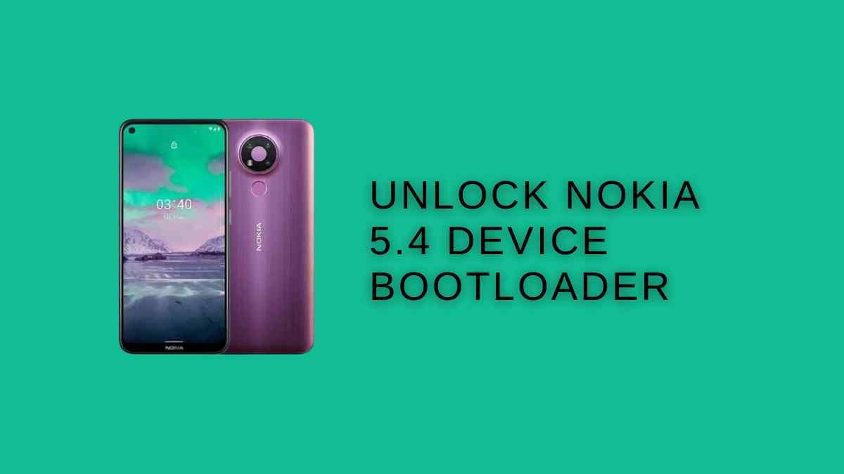 unlock Nokia 5.4 bootloader