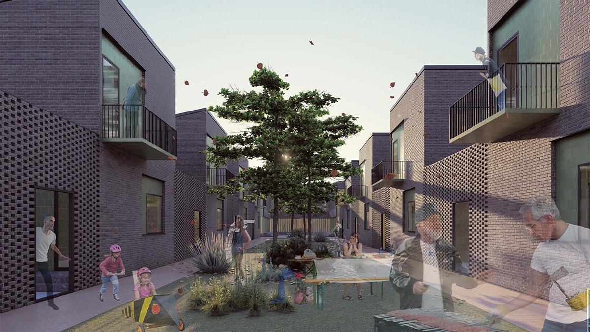 Student project for North Corktown, Detroit, by Sara Alsawafy, Erin Bolin, and Zhenkun Zhang