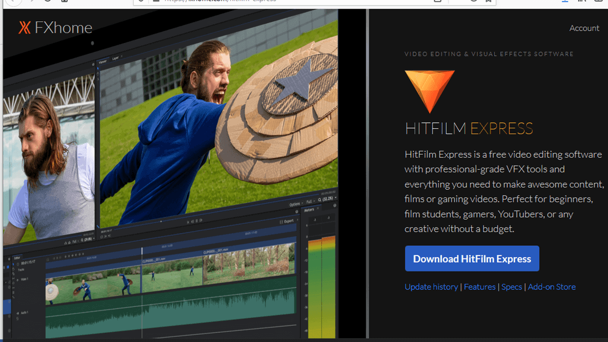 Hitfilm Express - Video Editing Software