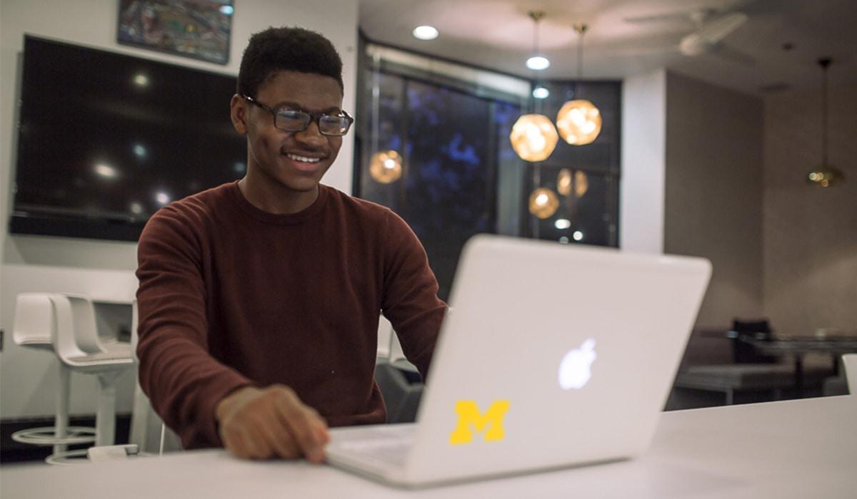 Man at a computer