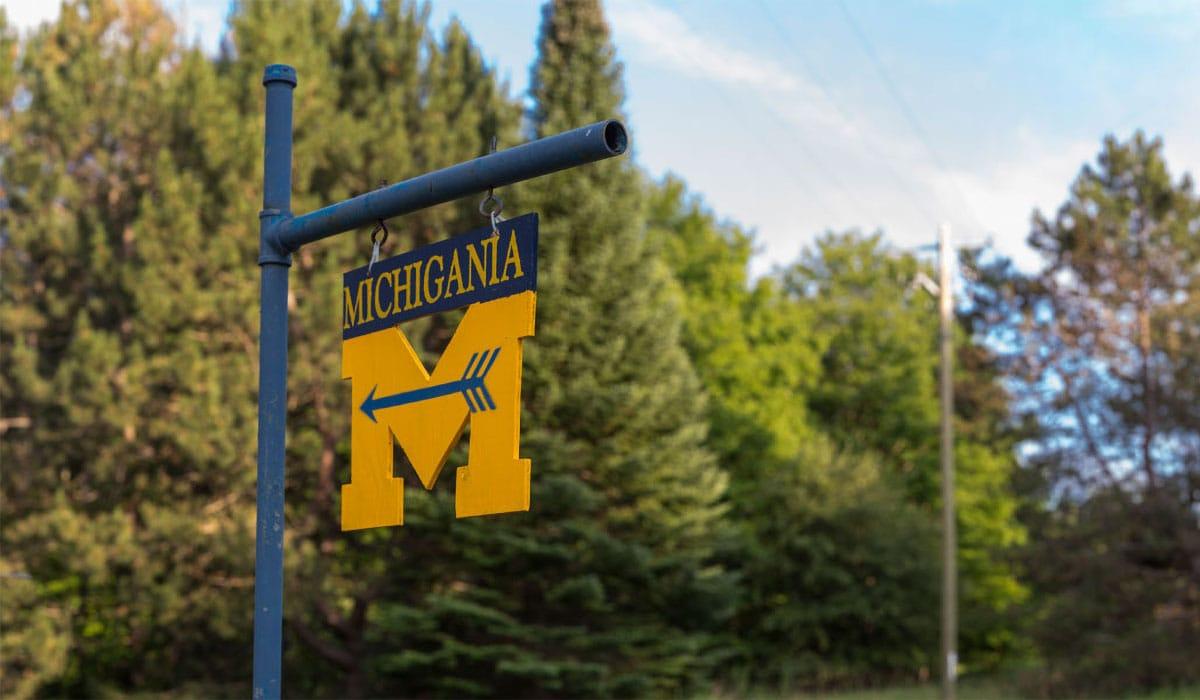 Camp Michigania sign