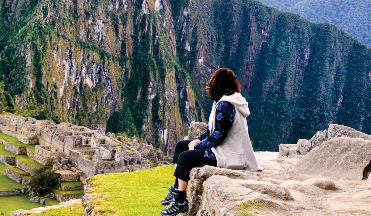Woman at Machu Picchu