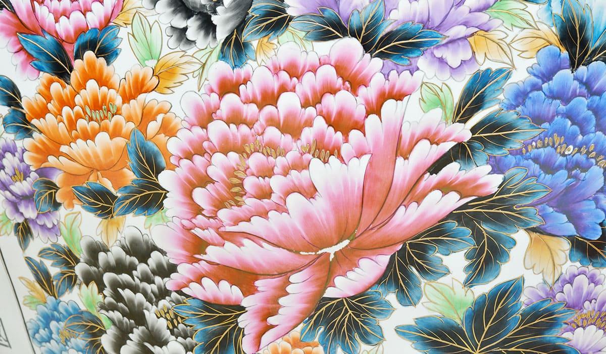 Peony Flowers On Ceramic Vase