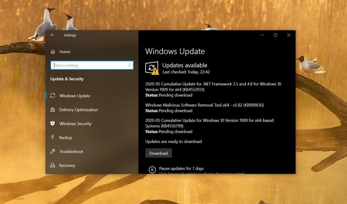 Windows 10 update fazer