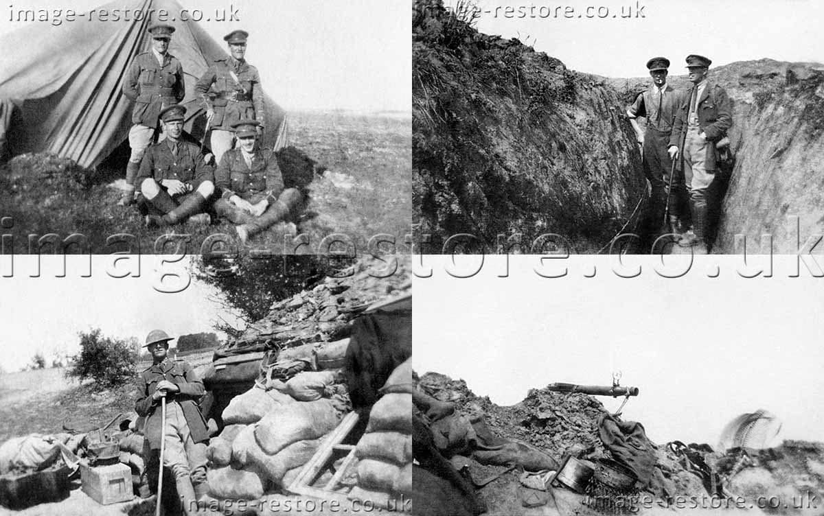 WW1 images from one observer who survived the war