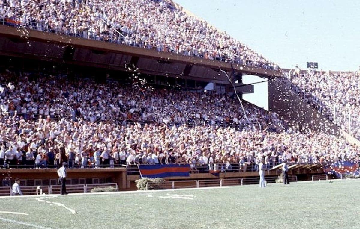 Foto de la tribuna de la hinchada de San Lorenzo