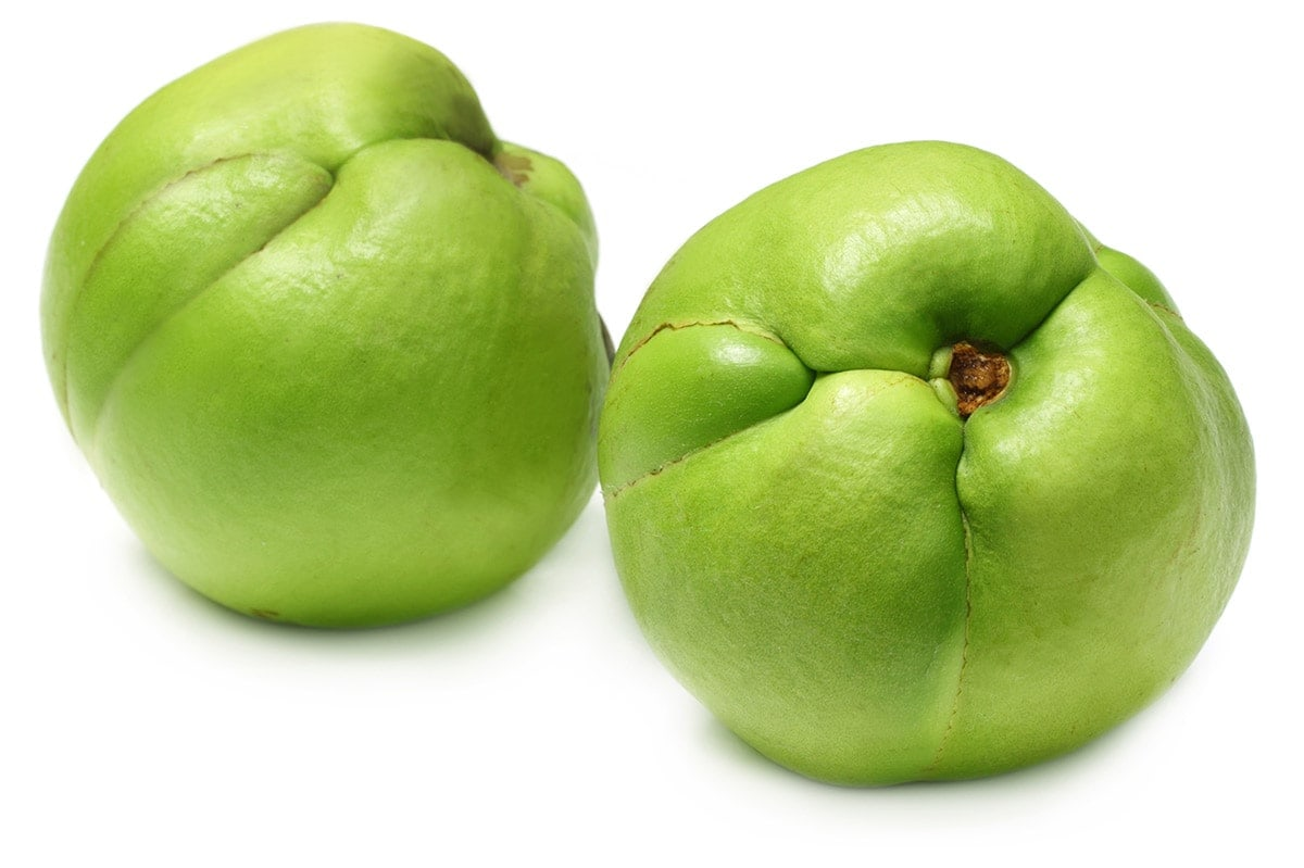 elephant apples on a white background