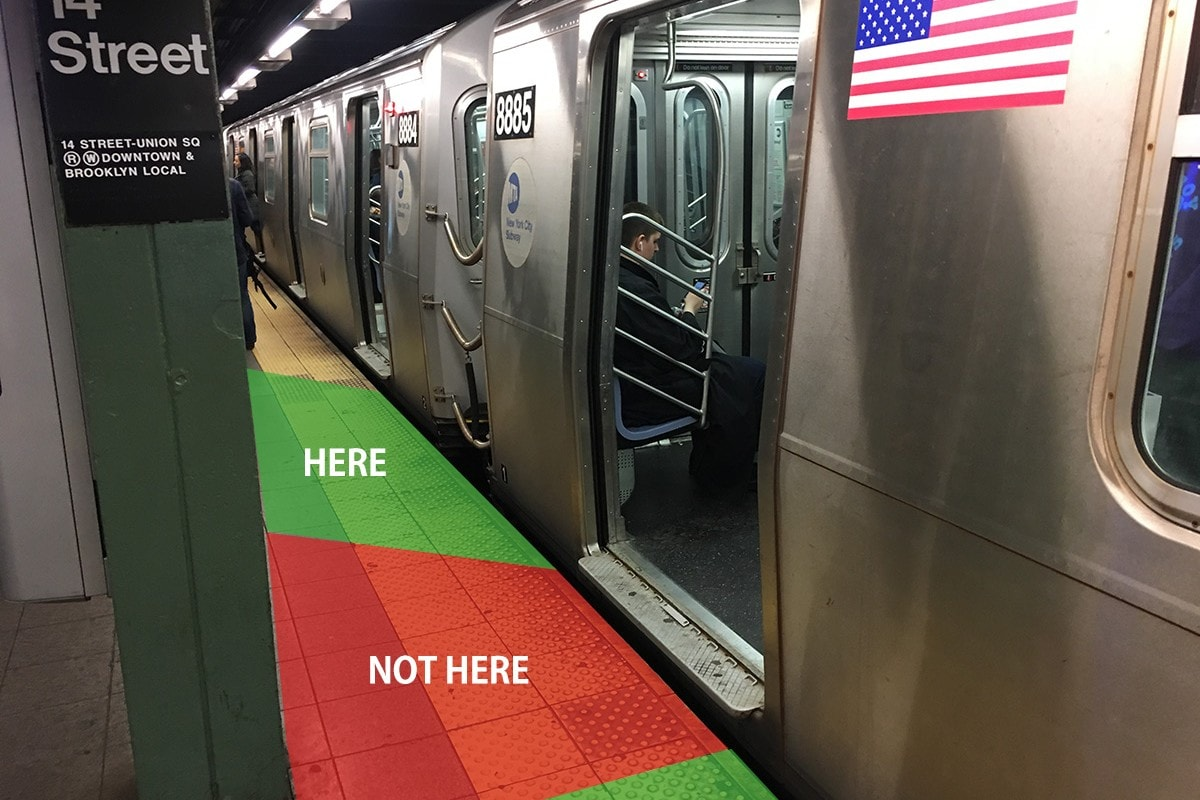 Where to stand when you're waiting for the New York Subway