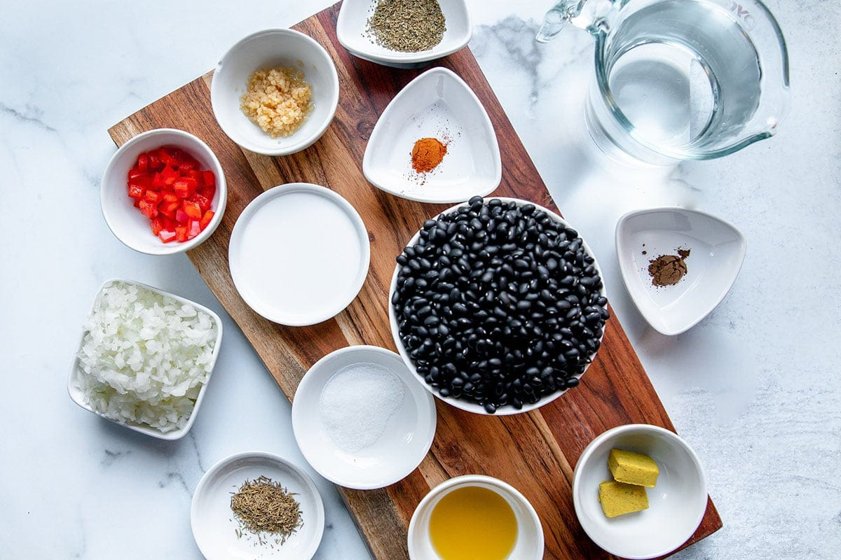 Ingredients for Instant pot black bean