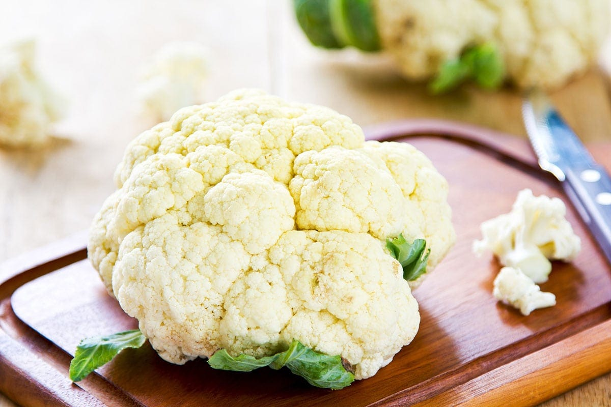 whole cauliflower and florets