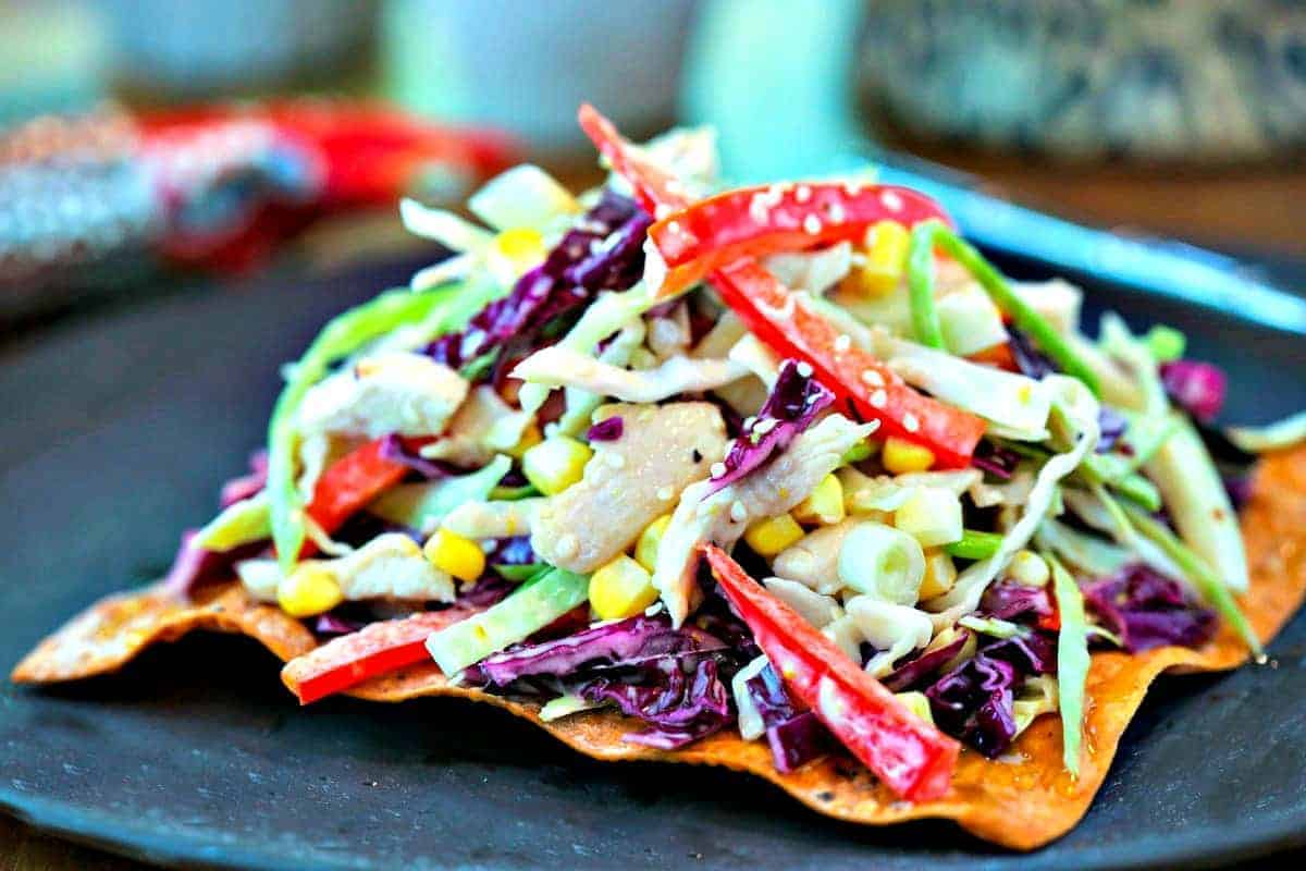 Asian Slaw with Egg Roll Crackers | Life, Love, and Good Food