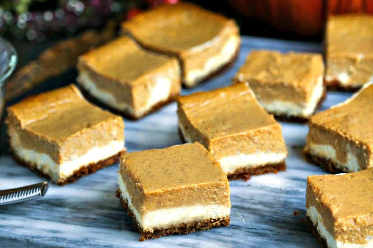 Gingersnap Pumpkin Pie Cheesecake Bars | Life, Love, and Good Food