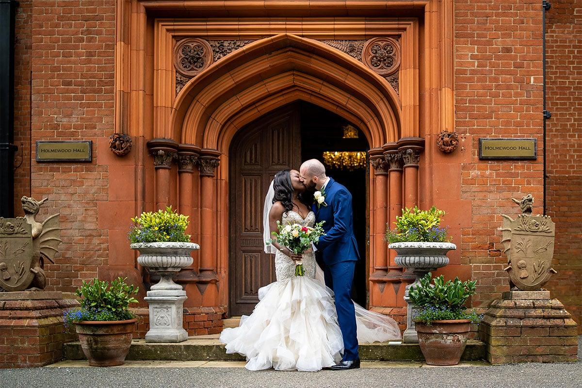 Bride And Groom Portrait At Holmewood Hall