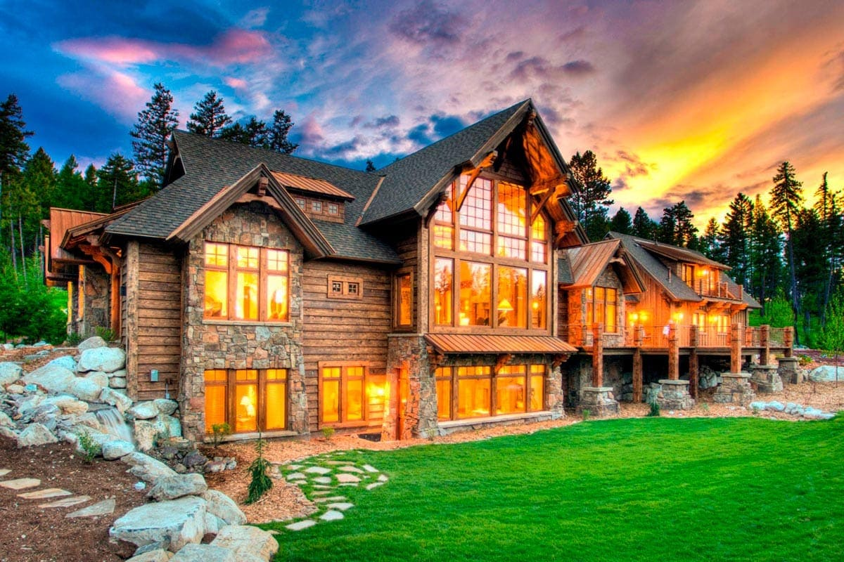 luxury ski homes, modern rustic architecture