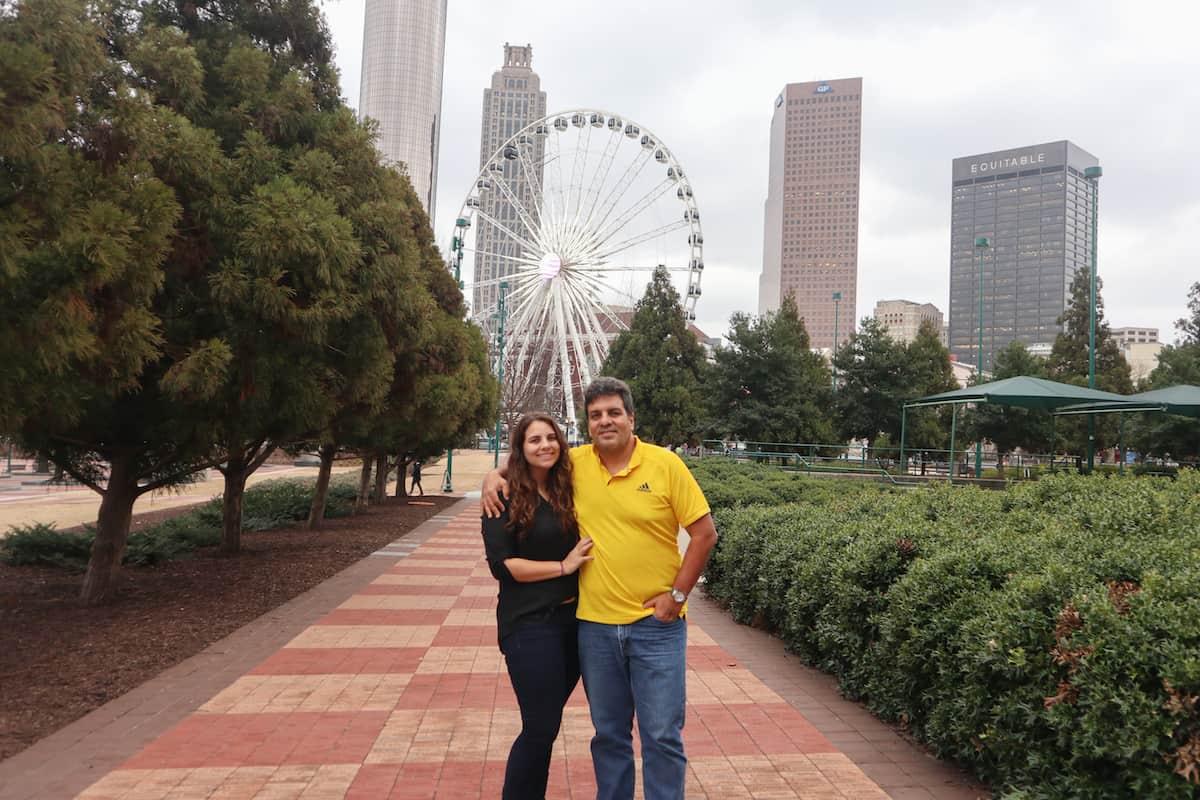 Walk around the Centennial Olympic Park