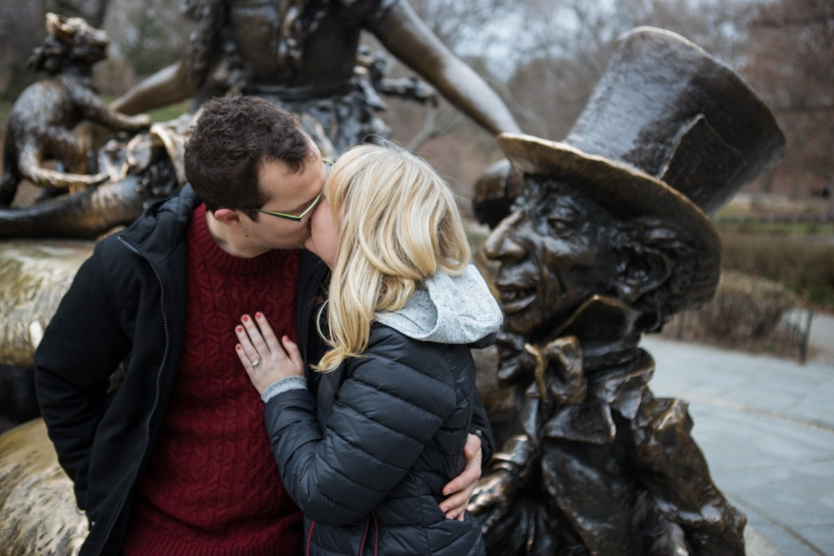 Photo 11 Surprise wedding proposal by Alice in Wonderland statue in Central Park. | VladLeto