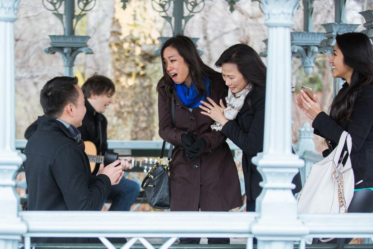 Photo Surprise Proposal at Ladies Pavilion in Central Park | VladLeto