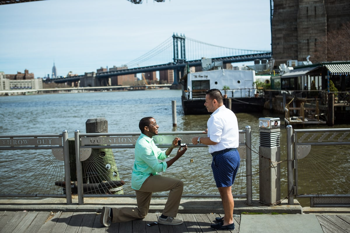 Photo Secreet proposal by Brooklyn Bridge | VladLeto