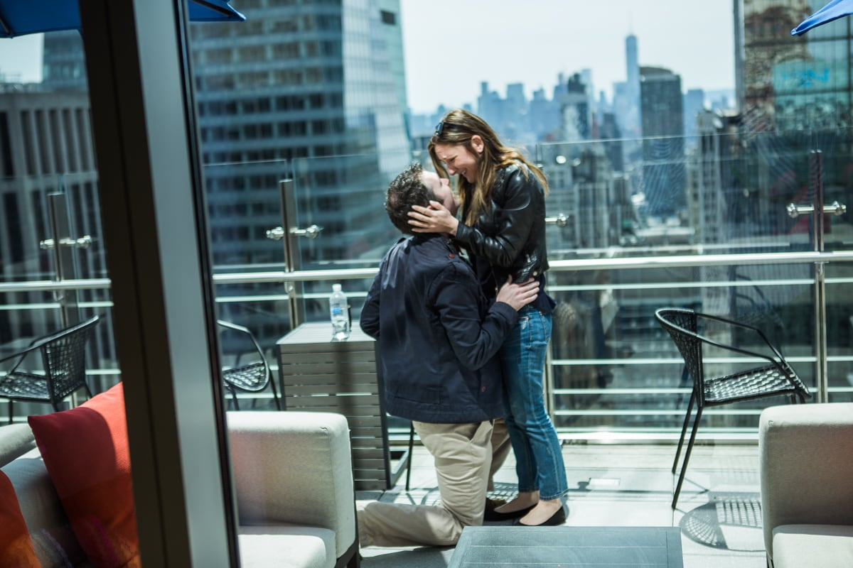 Photo 11 Marriage proposal at roof top of Hayt Times square.   VladLeto
