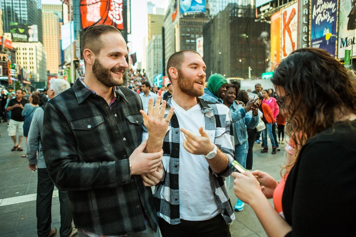 Photo 11 Times Square Marriage Proposal | VladLeto