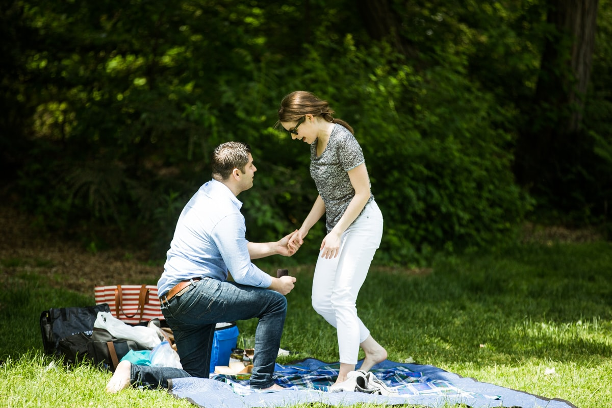 Photo 9 Strawberry Fields in Central Park wedding proposal | VladLeto