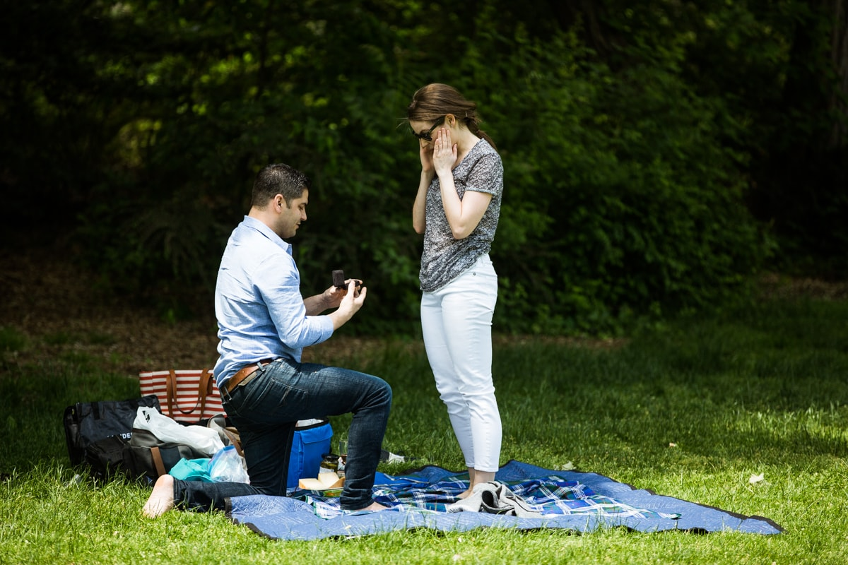 Photo Strawberry Fields in Central Park wedding proposal | VladLeto