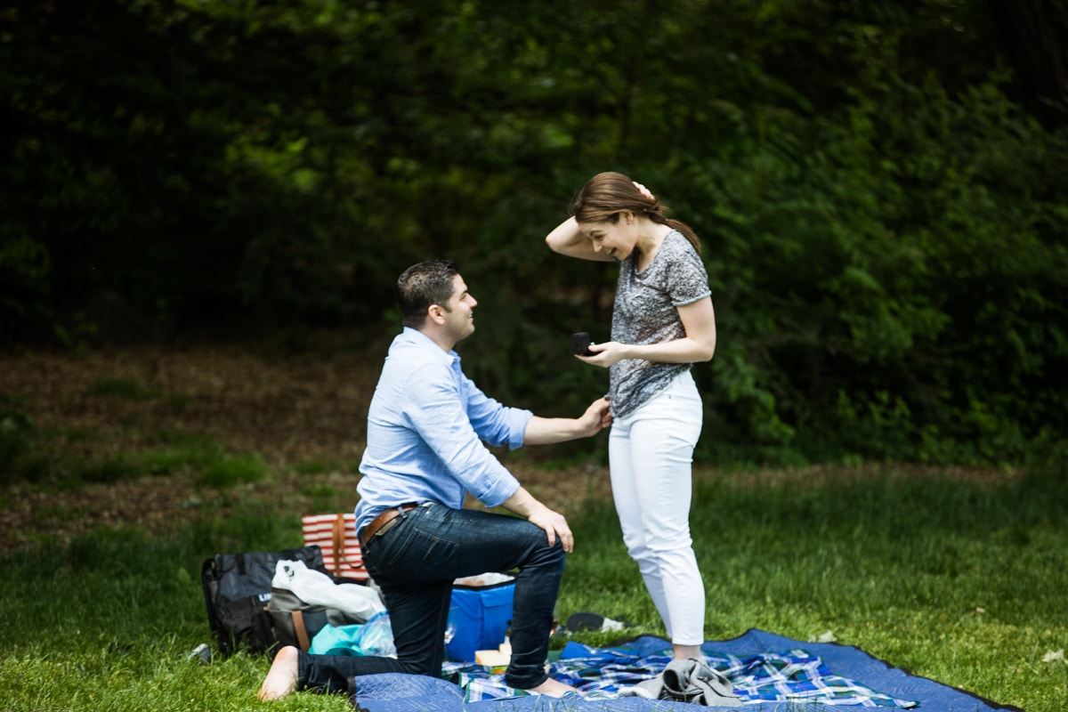 Photo 11 Strawberry Fields in Central Park wedding proposal | VladLeto