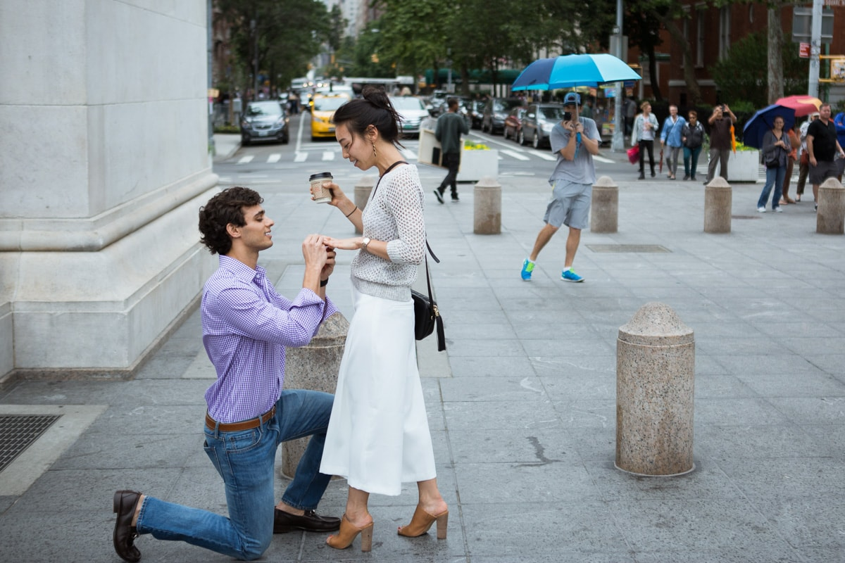 Photo 11 Proposal in Washington Square Park. | VladLeto