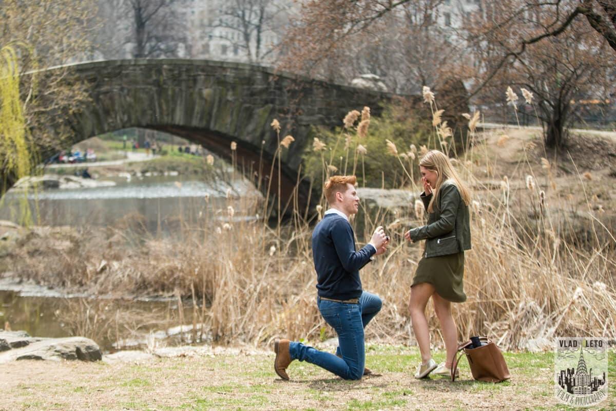 Photo Central Park Surprise Proposal under Gapstow bridge.   VladLeto