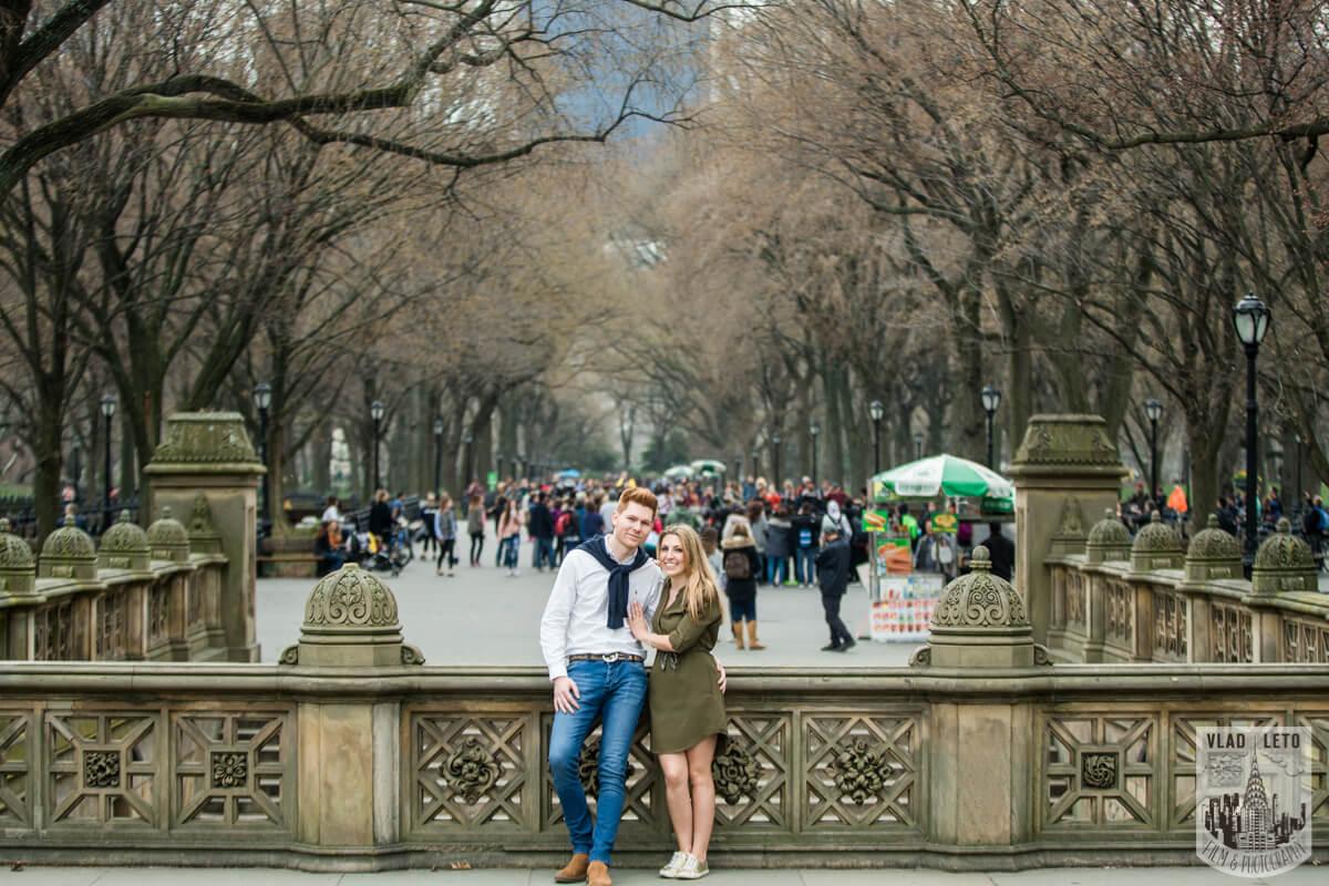 Photo 11 Central Park Surprise Proposal under Gapstow bridge.   VladLeto