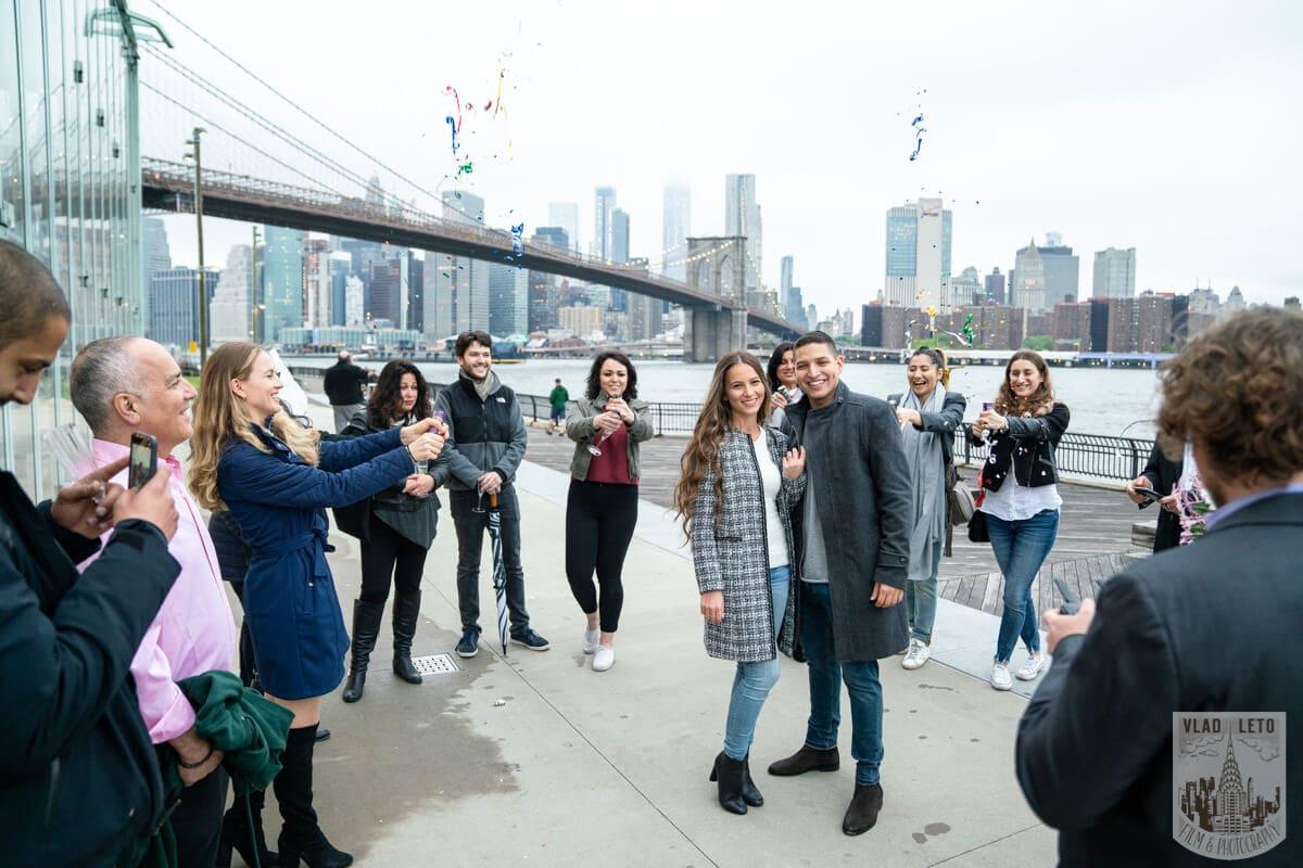 Photo 15 Surprise Marriage Proposal in Dumbo, Brooklyn | VladLeto