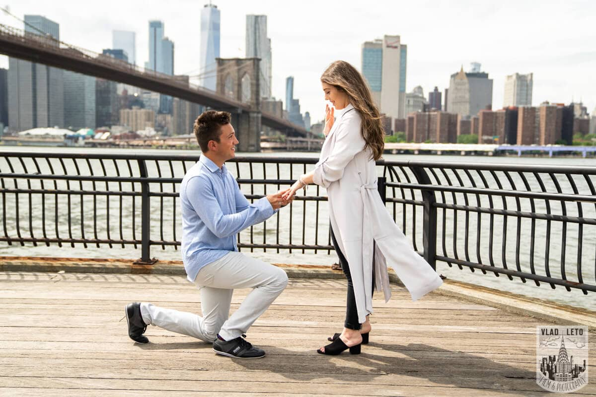 brooklyn bridge proposal photographer