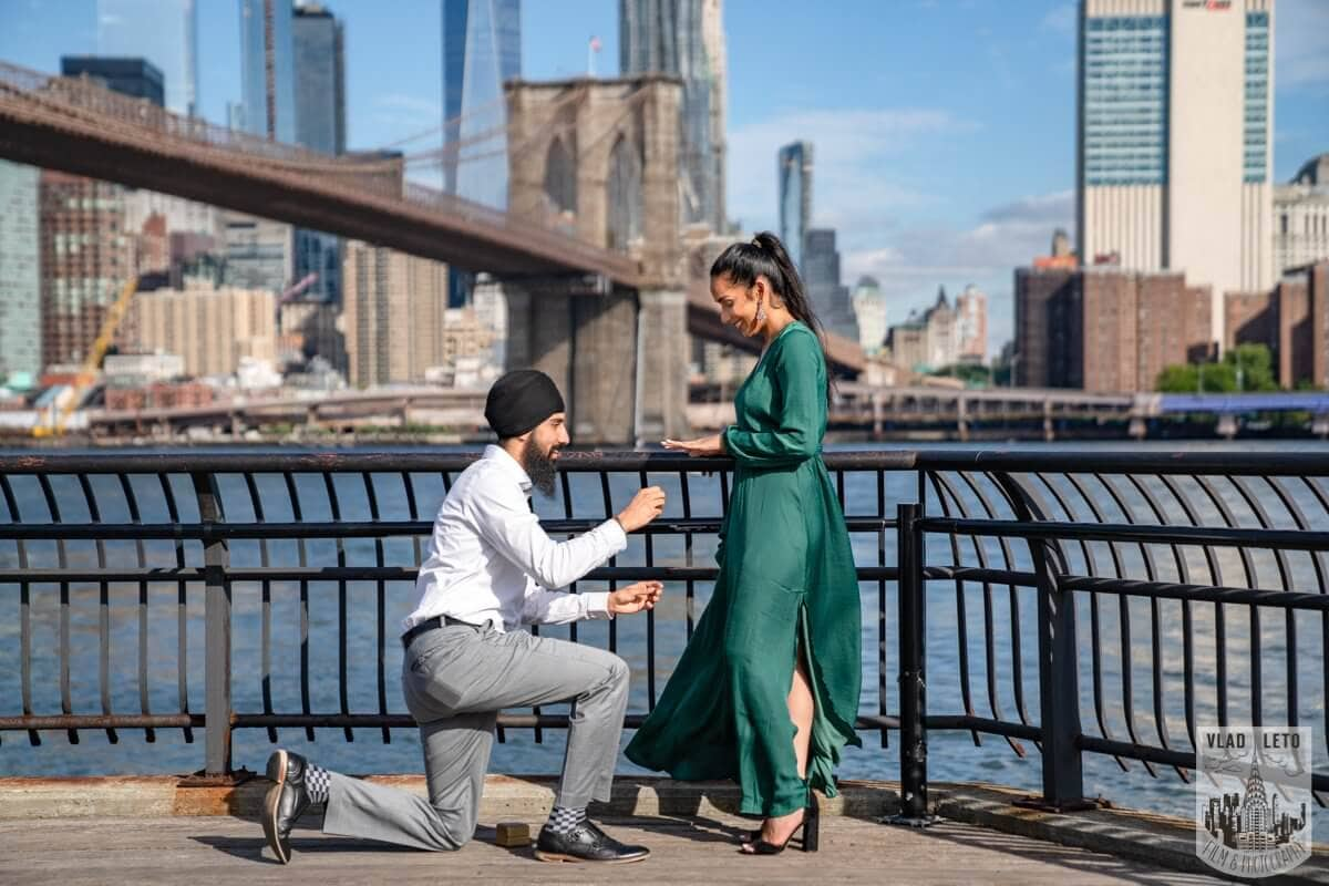 Photo 3 BEST Proposal Reaction! Brooklyn bridge park. | VladLeto