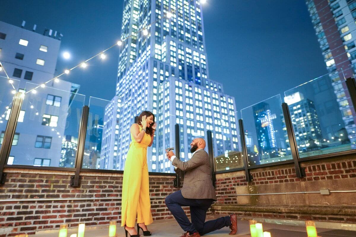 Photo Rooftop proposal in NYC | VladLeto