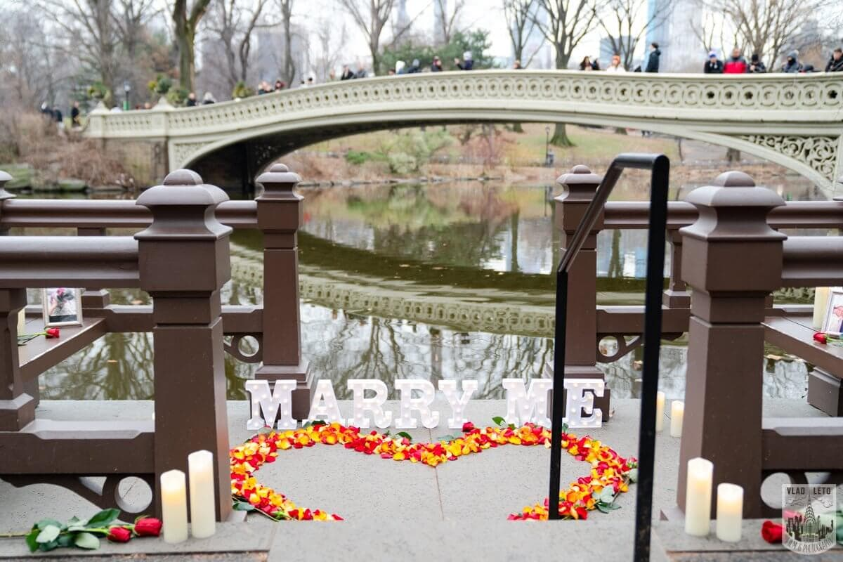 Photo Central Park Marriage Proposal by Bow Bridge. | VladLeto
