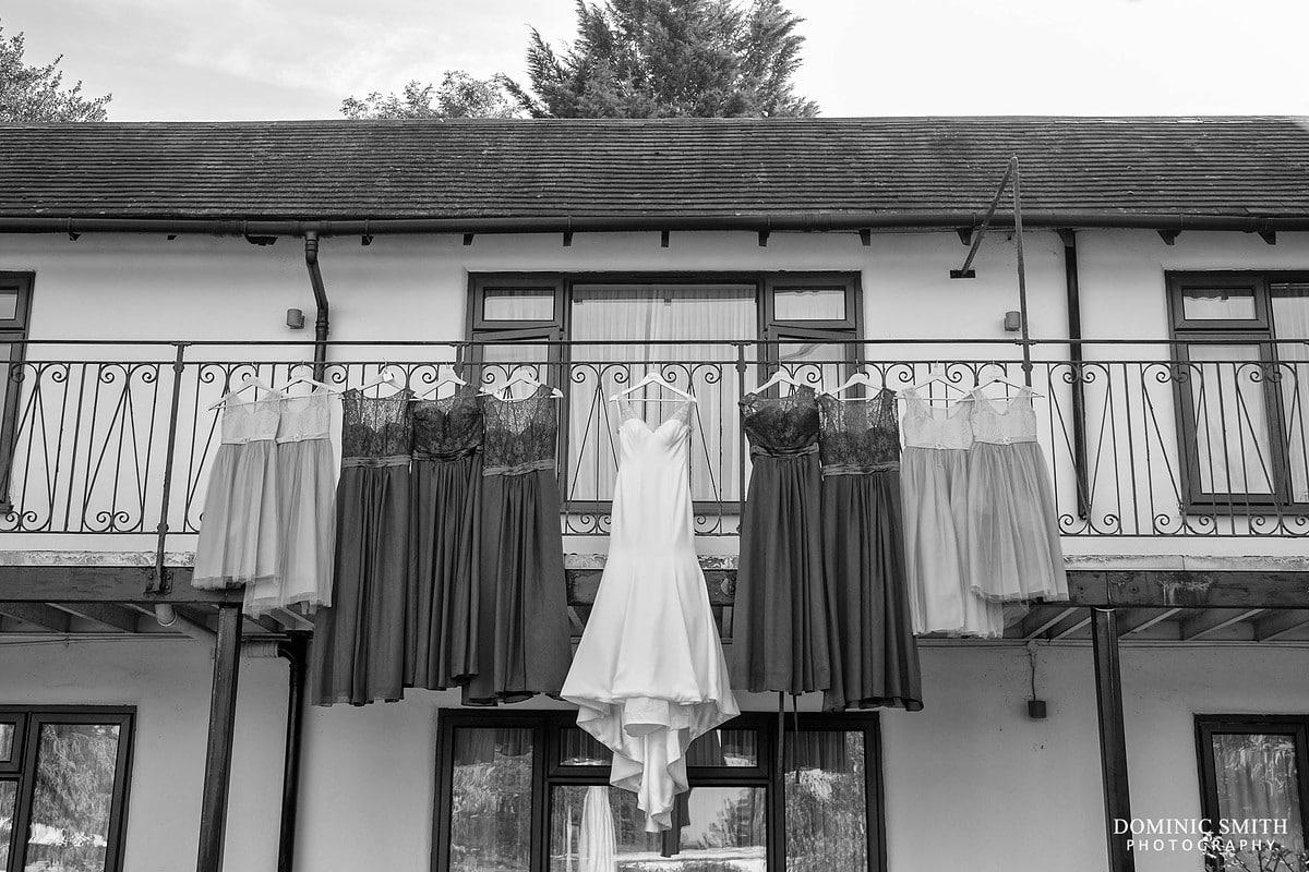 Bridal Dresses Hanging