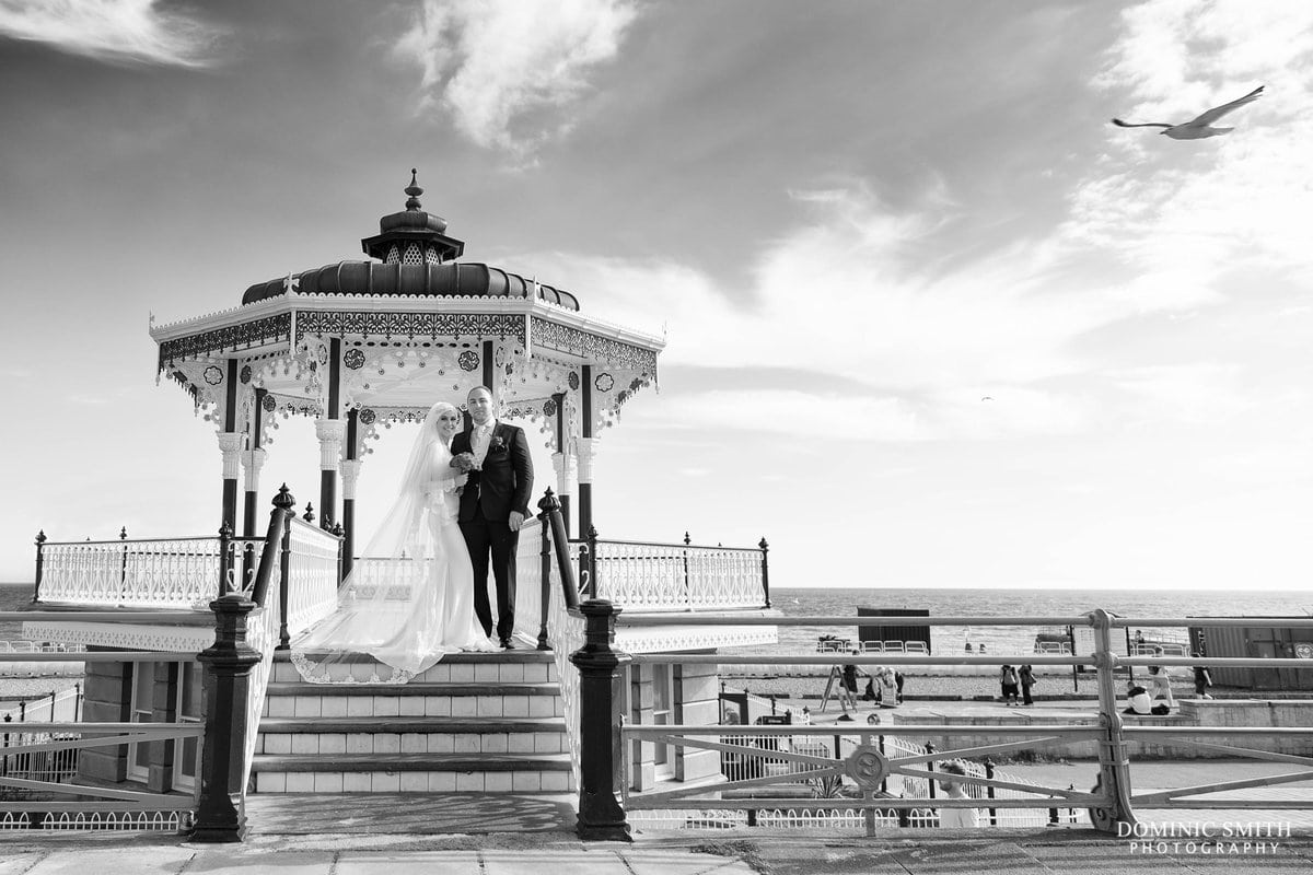 Brighton Bandstand Couple Photo