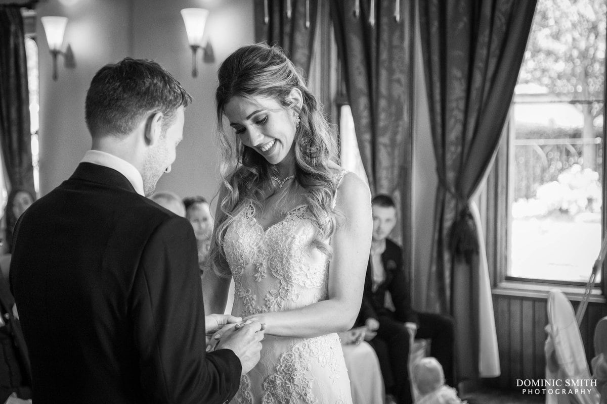 Exchanging of the Wedding Rings at Nutfield Priory