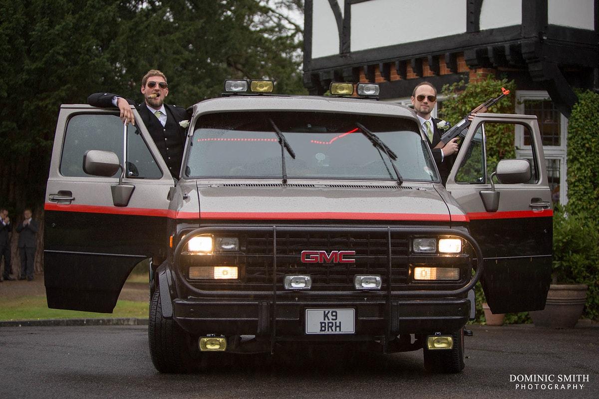 Groomsmen and the A-Team Van