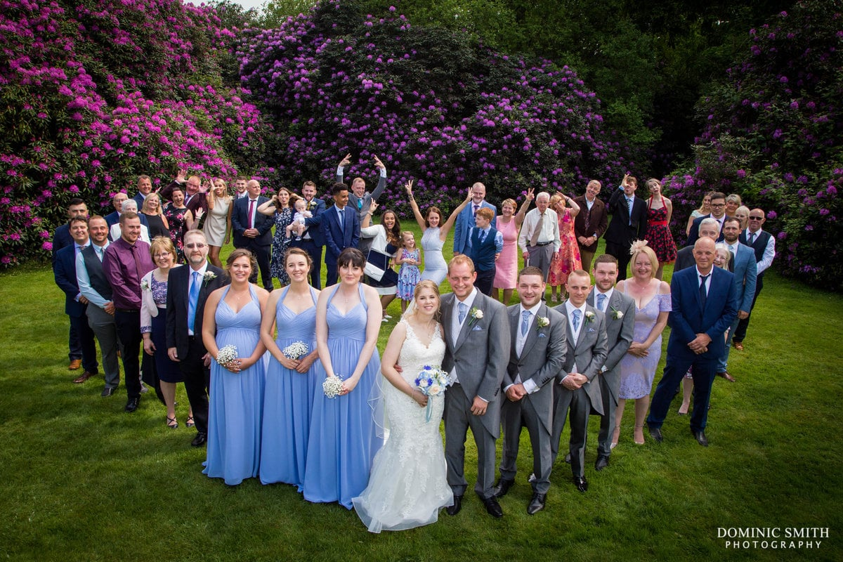 Wedding Group Photo at Highley Manor