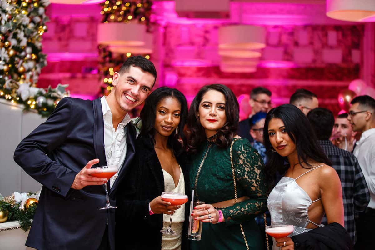 party for christmas at rosso restaurant photo by er event photography