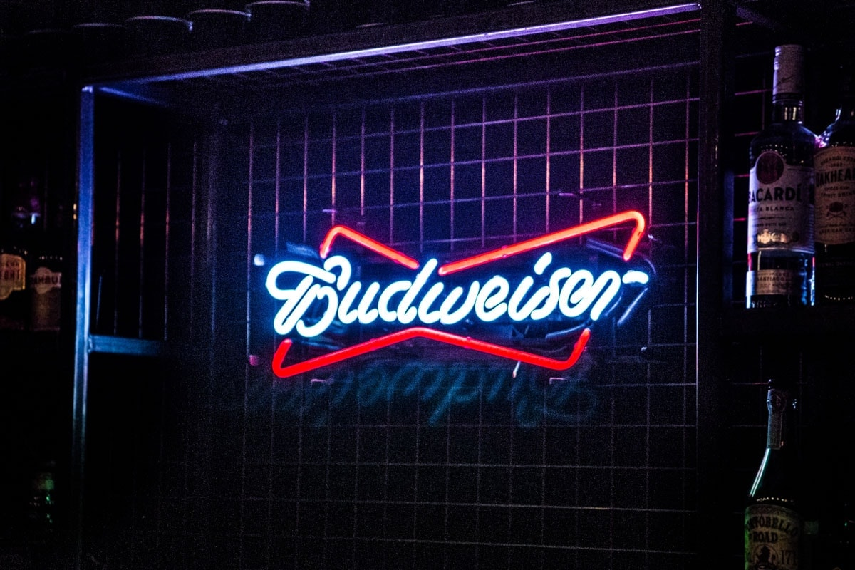 Budweiser PR street campaign in at jimmy's hq in manchester