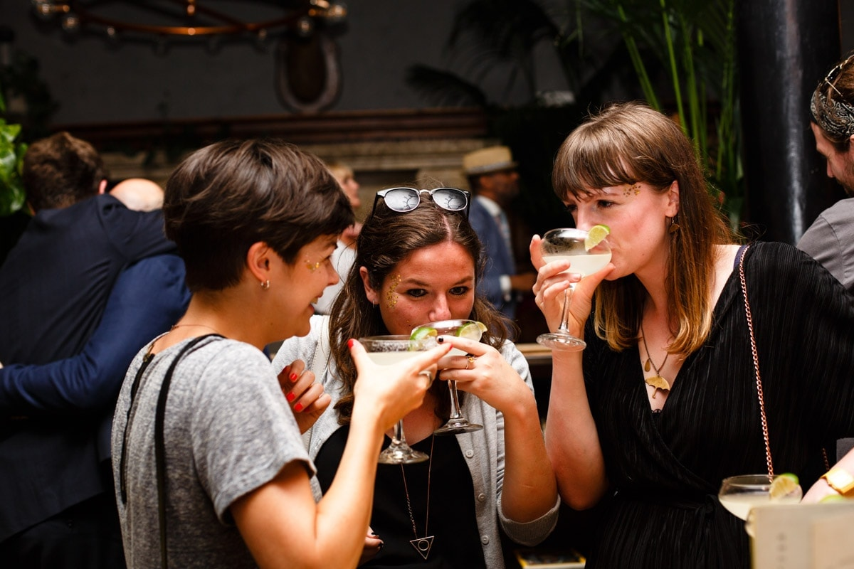 patron tequila cocktails being enjoyed by guests