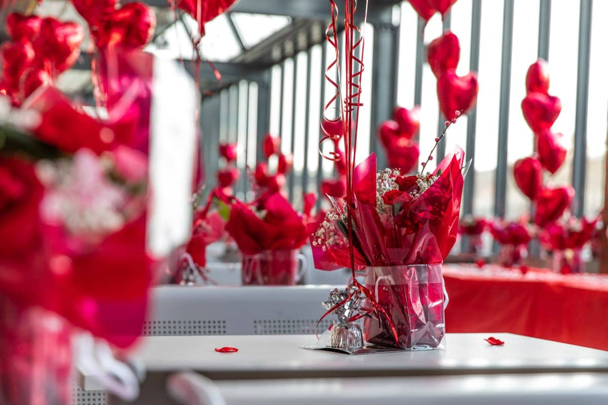 Valentines day office party in bury