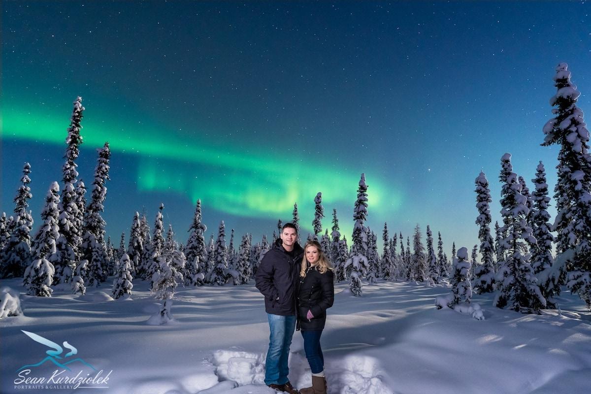 Sean Kurdziolek portrait of the Northern Lights.
