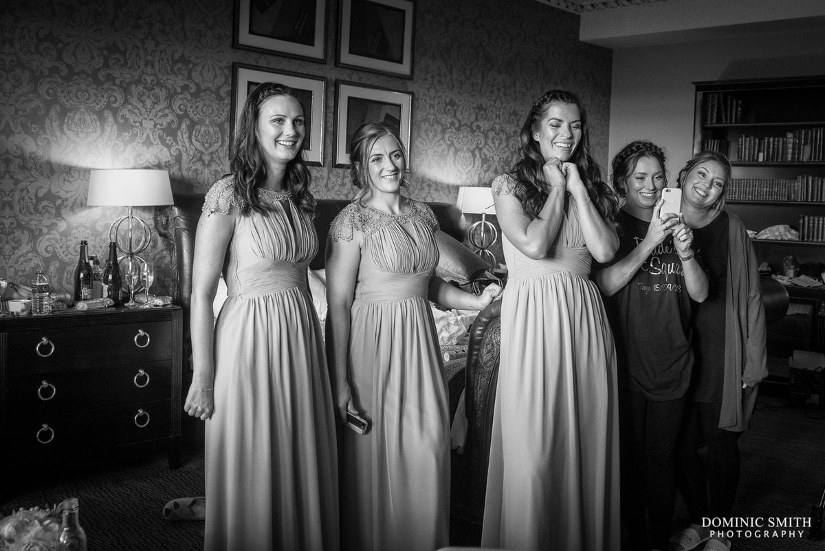 Bridal Party Reaction at Nutfield Priory
