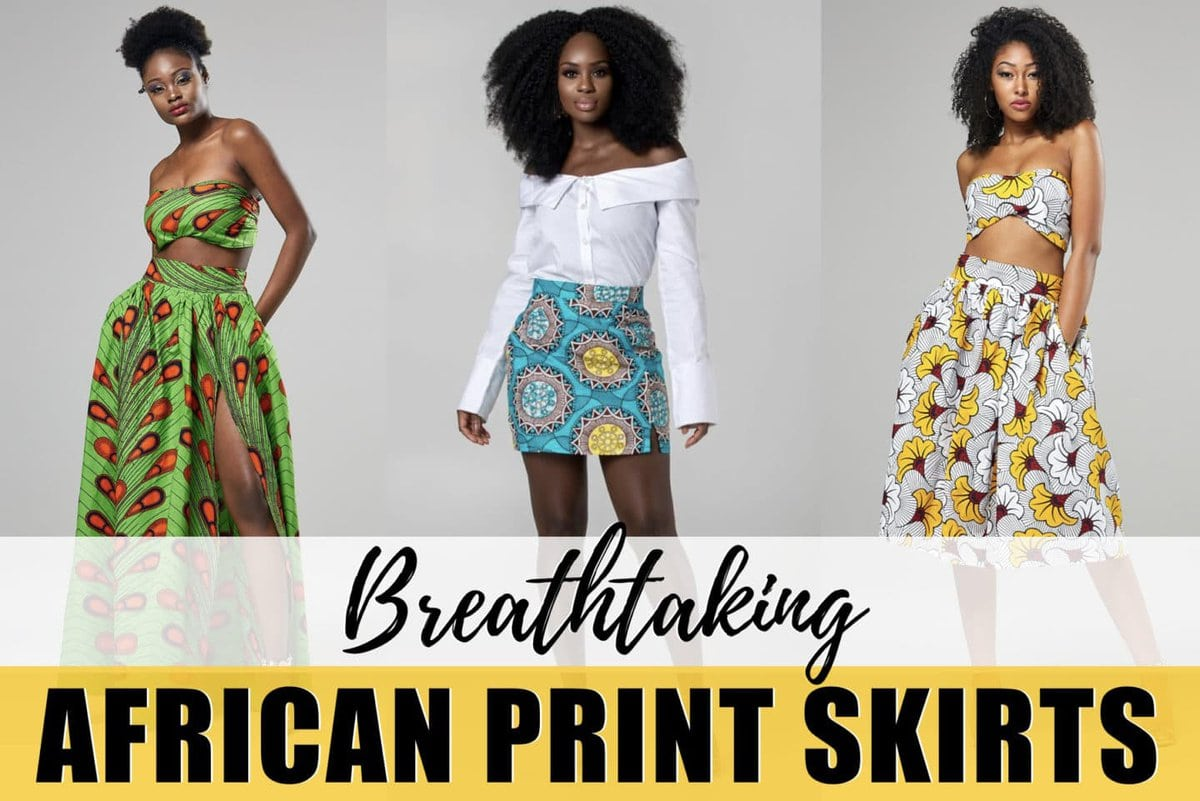 An epic roundup of almost 25 ankara skirts and other African print styles in fashion. Discover the best African print maxi skirts, midi skirts, pencil skirts and more. From ankara Dutch wax, Kente, to Kitenge and Dashiki. All your favorite styles in one place. Click to see all! #africanfashionoutfits #kente