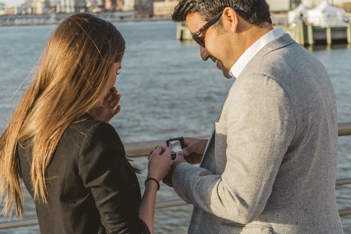 Photo 3 Marriage proposal at Pier 25, Hudson River Park, NYC. | VladLeto